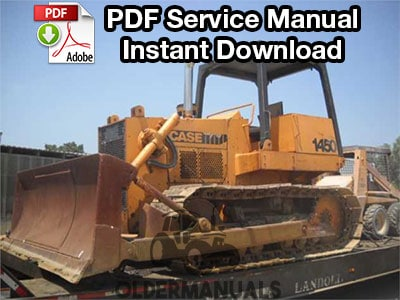Case 1450 Crawler Dozer Service Manual