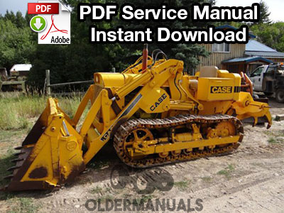 Case 750 Crawler Dozer Service Manual