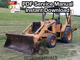 Case 480C Tractor Loader Backhoe Service Manual