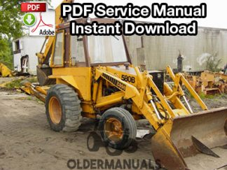 Case 580B CK Tractor Loader Backhoe Service Manual