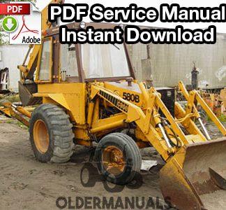 Case 580B Tractor Loader Backhoe w/Shuttle Deluxe Tractor Manual ...