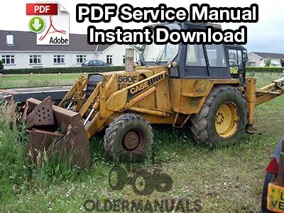 Case 580F Tractor Loader Backhoe Service Manual