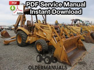 Case 580K Tractor Loader Backhoe Service Manual (Phase I)