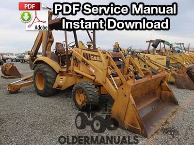 Case 580K Tractor Loader Backhoe Service Manual (Phase I)