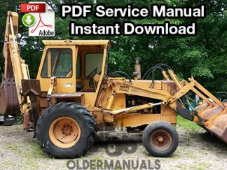 Case 680CK Tractor Loader Backhoe Service Manual (SN 9101500 & Below)
