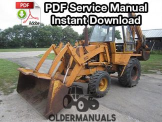 Case 780 Tractor Loader Backhoe Service Manual