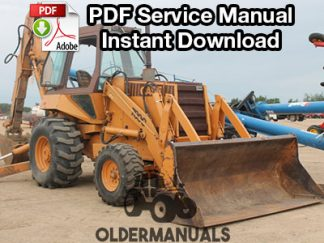 Case 780C Tractor Loader Backhoe Service Manual PDF Download