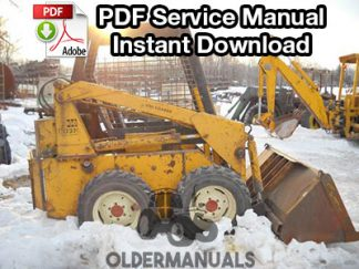 Case 1737, 1740 Skid Steer Service Manual