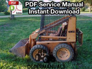 Case 1816, 1816B, 1816C Skid Steer Service Manual