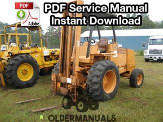Case D D D Forklift Service Manual Pdf Download X
