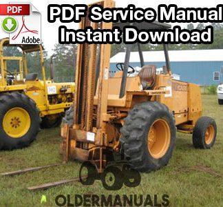 Case 584D, 585D, 586D Forklift Service Manual