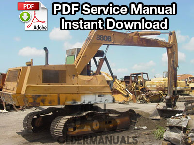 Case 880B Excavator Service Manual