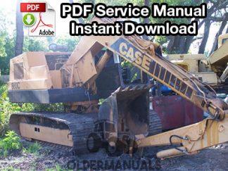 Case 880C Excavator Service Manual