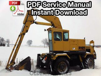 Drott 40YR, 40ER Cruz-Air Excavator Service Manual