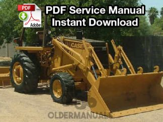 Case 480, 480CK Tractor Loader Backhoe Service Manual