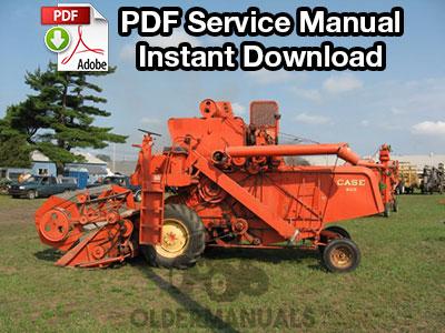 Case 600, 660 Combine Service Manual