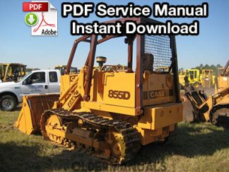 Case 850D, 855D Crawler Dozer Service Manual