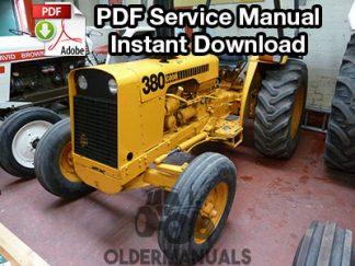 Case 380 General Purpose Tractor Service Manual