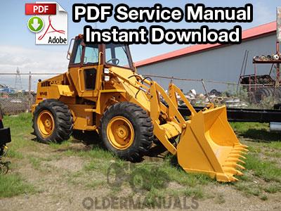 case 821b loader service manual