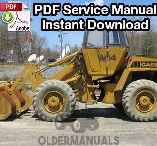Case W14, W14H, W14FL Wheel Loader Service Manual (S/N 9119671-Below)