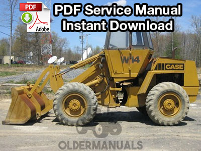 Case W14, W14H, W14FL Wheel Loader Service Manual (S/N 9119671-Below)