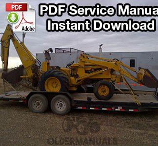 Case W3 & 420B Tractor Loader Backhoe Service Manual