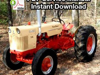 Case 210, 210B, 310, 310C Tractor Service Manual