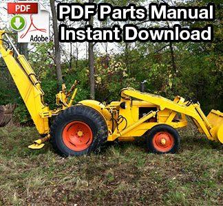Case 310, 310B Backhoe Attachment Parts Manual (S/N 4008725 Up)
