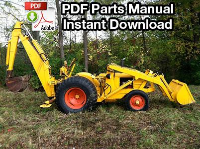 Case 310, 310B Tractor Loader Backhoe Parts Manual (S/N 4008725 Up)