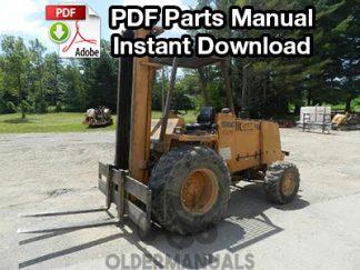Case 584, 585, 586 CK Forklift Parts Manual