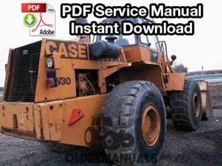 Case W30 Wheel Loader Service Manual