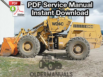 Case W24C Wheel Loader Service Manual