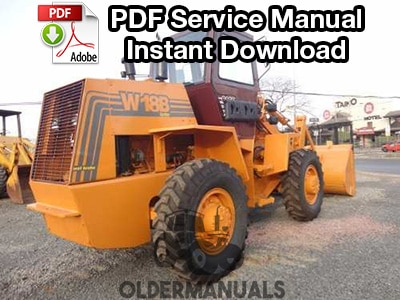 Case W18B, W20C Wheel Loader Service Manual