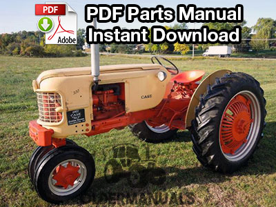 Case IH 300, 301, 302, 311, 312 Tractor Parts Manual