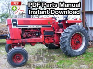 Case International 766 Tractor Parts Manual