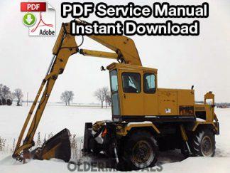Drott 30, 35, 40, 50 EC/YC Excavator Service Manual