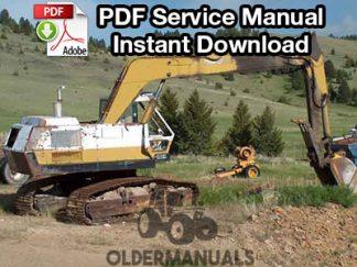 Drott 35B, 40B, 40BLC, 50B Excavator Service Manual