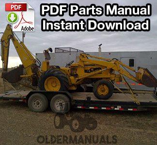 Case W3 Tractor Loader Backhoe Parts Manual