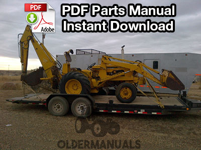 Case W3 Tractor Loader Backhoe Parts Manual