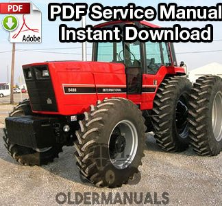 International 5088, 5288, 5488 Tractor Chassis Service Manual