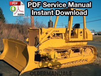 Fiat Allis 14C Crawler Dozer Service Manual (with 8205 Engine)
