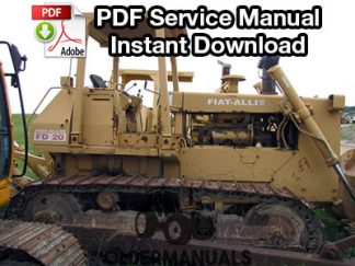 Fiat Allis FD20 Crawler Dozer Service Manual