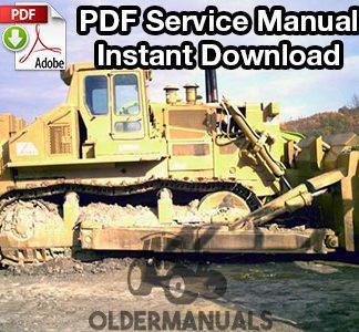 Fiat Allis FD40B Crawler Dozer Service Manual
