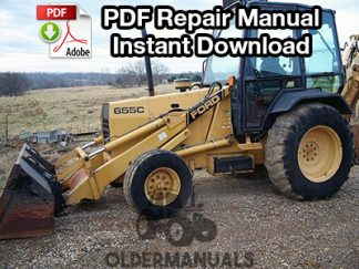 Ford 455C, 555C, 655C Tractor Loader Backhoe Repair Manual