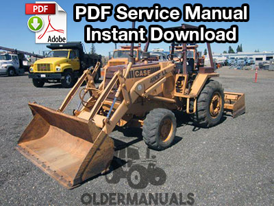 Case 480F, 480FLL Construction King Tractor Loader Backhoe Service Manual