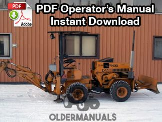 Case FH30 Tractor Loader Backhoe Operator's Manual