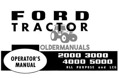 Ford 2000, 2110, 3000, 4000, 4110, 5000 Tractor Operator's Manual