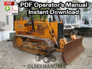 Case 450B, 455B Crawler Dozer Operator's Manual