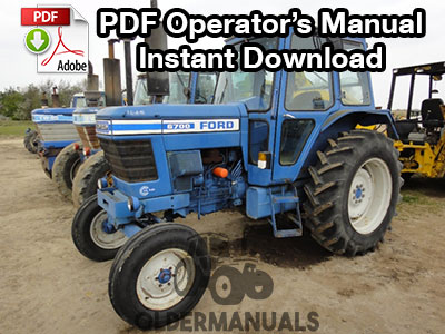 Ford 6700, 7700 Tractor Owner Operator's Manual