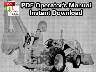 Case Model 32S Backhoe Operator's Manual